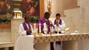 EMMANUEL CELEBRATING MASS IN ROME