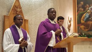 EMMANUEL GIVING SERMON AT MASS IN ROME